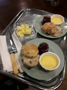 Cream tea, scones butter and cream